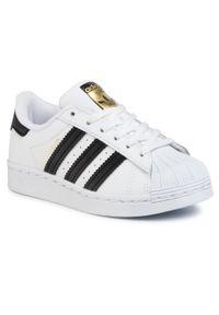 Adidas - Buty adidas - Superstar C FU7714 Ftwwht/Ftwwht/Ftwwht. Okazja: na urodziny, na co dzień. Zapięcie: pasek. Kolor: biały. Materiał: skóra ekologiczna, skóra. Szerokość cholewki: normalna. Styl: sportowy, klasyczny, casual