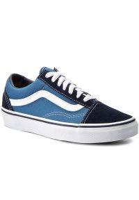 Niebieskie buty sportowe Vans Vans Old Skool, z cholewką