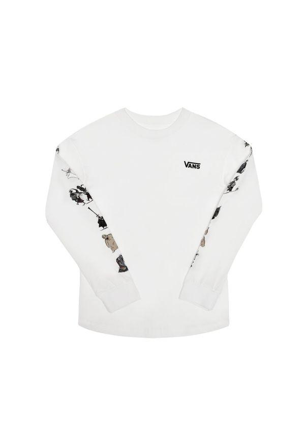 Biała koszulka z długim rękawem Vans z motywem z bajki
