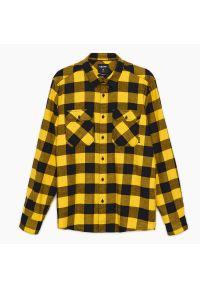 Cropp - Koszula w kratę - Żółty. Kolor: żółty