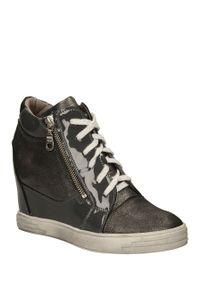 Karino - sneakersy karino 1176. Kolor: srebrny, wielokolorowy, szary. Materiał: skóra. Szerokość cholewki: normalna. Sezon: jesień, wiosna