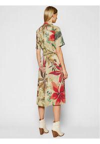 Beżowa sukienka Desigual koszulowa #5