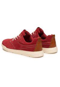 s.Oliver - Sneakersy S.OLIVER - 5-13605-36 Red 500. Okazja: na co dzień, na spacer. Kolor: czerwony. Materiał: zamsz, skóra. Szerokość cholewki: normalna. Styl: casual, sportowy, klasyczny, elegancki