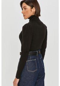 Czarny sweter Answear Lab z długim rękawem, z golfem, wakacyjny, długi
