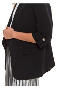 TOP SECRET - żakiet damski luźny, z rękawem 3/4. Okazja: do pracy. Kolor: czarny. Materiał: tkanina. Styl: elegancki #3