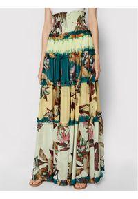 Pinko Spódnica plisowana Titanic 1N1375 8526 Kolorowy Regular Fit. Wzór: kolorowy