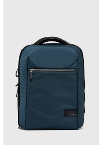 Samsonite - Plecak. Kolor: niebieski. Materiał: włókno, materiał