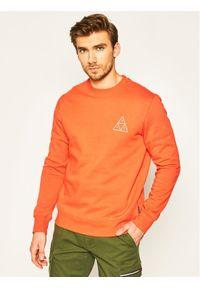 HUF Bluza Essentials TT Crew PF00101 Pomarańczowy Regular Fit. Kolor: pomarańczowy