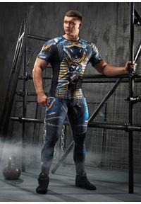 Koszulka sportowa FJ! krótka, na fitness i siłownię, z nadrukiem, z krótkim rękawem