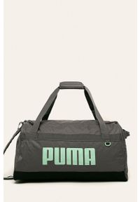 Szara torba podróżna Puma z nadrukiem, sportowa