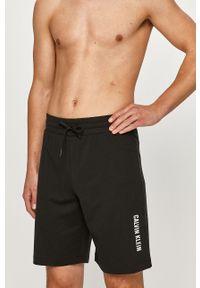 Czarne szorty Calvin Klein gładkie, casualowe, na co dzień