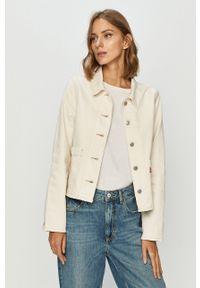 Biała kurtka Levi's® bez kaptura, na spotkanie biznesowe