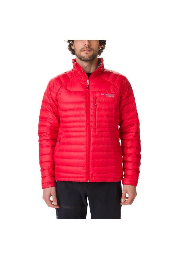 Czerwona kurtka turystyczna columbia