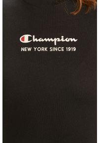 Czarna bluzka Champion casualowa, na co dzień, z aplikacjami