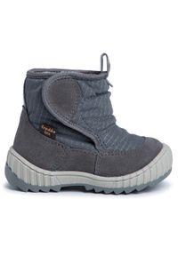 Szare buty zimowe Froddo z cholewką, z cholewką przed kolano