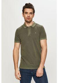 Zielona koszulka polo Jack & Jones casualowa, krótka, polo