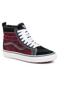 Vans - Sneakersy VANS - Sk8-Hi Mte VN0A4BV7XKZ1 (Mte) Port Royale/Black. Okazja: na co dzień. Kolor: czarny, wielokolorowy, czerwony. Materiał: zamsz, skóra. Szerokość cholewki: normalna. Sezon: lato. Styl: klasyczny, casual. Model: Vans SK8