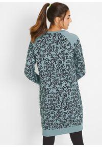 Szara sukienka bonprix z długim rękawem