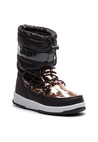Czarne buty zimowe Moon Boot z cholewką
