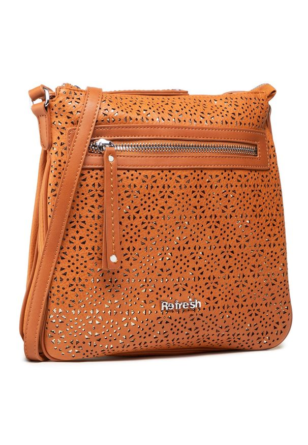 Refresh - Torebka REFRESH - 83370 Camel. Kolor: brązowy. Materiał: skórzane. Styl: elegancki, casual