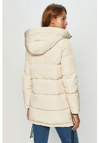 Kremowa kurtka Vero Moda casualowa, z kapturem, na co dzień