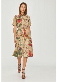 Wielokolorowa sukienka Desigual casualowa, z krótkim rękawem, na co dzień
