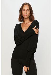 Czarny sweter Morgan na co dzień, casualowy, długi, z długim rękawem