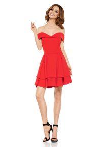 Czerwona sukienka na wesele Lemoniade elegancka