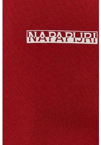 Napapijri - Bluza bawełniana. Okazja: na co dzień. Kolor: czerwony. Materiał: bawełna. Styl: casual