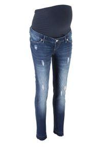 """Dżinsy ciążowe SKINNY bonprix niebieski """"stone"""". Kolekcja: moda ciążowa. Kolor: niebieski"""