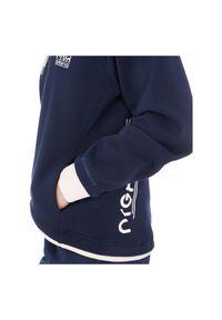 Bluza damska z kapturem Energetics Lucienne 302535. Typ kołnierza: kaptur. Materiał: bawełna, materiał. Wzór: aplikacja, nadruk. Sport: fitness