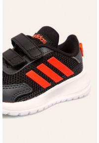 Czarne buty sportowe Adidas do biegania, na rzepy, z cholewką