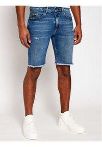 Niebieskie spodenki jeansowe Versace Jeans Couture