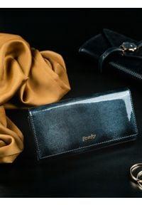 ROVICKY - Portfel damski skórzany RFID Rovicky czarny. Kolor: czarny. Materiał: skóra