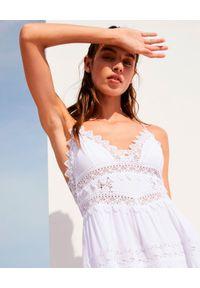 CHARO RUIZ IBIZA - Krótka sukienka z koronką Rachel. Kolor: biały. Materiał: koronka. Długość rękawa: na ramiączkach. Wzór: koronka. Długość: mini