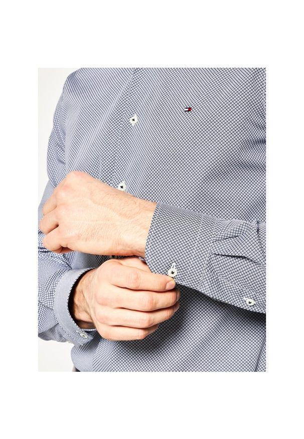 Szara koszula Tommy Hilfiger Tailored z nadrukiem