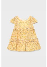 Pomarańczowa sukienka Mayoral z krótkim rękawem, mini