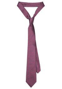 Czerwony krawat Lancerto w geometryczne wzory, elegancki