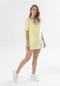Born2be - Jasnożółta Tunika Diavere. Kolor: żółty