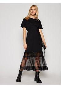 TwinSet Sukienka codzienna 211TT2290 Czarny Regular Fit. Okazja: na co dzień. Kolor: czarny. Typ sukienki: proste. Styl: casual