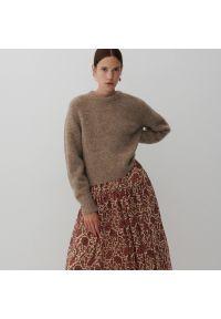 Reserved - Sweter z domieszką wełny - Beżowy. Kolor: beżowy. Materiał: wełna
