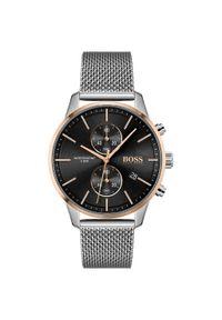 Czarny zegarek HUGO BOSS biznesowy, analogowy