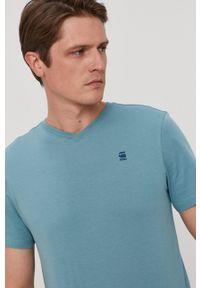 G-Star RAW - G-Star Raw - T-shirt. Okazja: na co dzień. Kolor: zielony. Materiał: dzianina. Wzór: gładki. Styl: casual