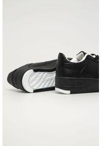 Czarne buty sportowe Answear Lab z cholewką, na sznurówki, z okrągłym noskiem