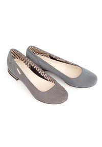 Baleriny Zapato bez zapięcia, w kropki, wąskie