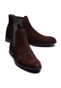 Brązowe buty zimowe QUAZI na co dzień, casualowe, z cholewką