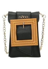 Nobo - Nerka damska torebka 2w1 czarna NOBO NBAG-I0760-C020. Kolor: czarny. Materiał: skórzane. Styl: klasyczny, elegancki. Rodzaj torebki: przez ramię
