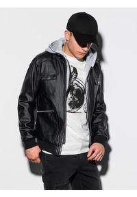 Czarna kurtka Ombre Clothing ze stójką