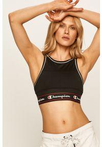 Czarny biustonosz sportowy Champion z odpinanymi ramiączkami, z aplikacjami