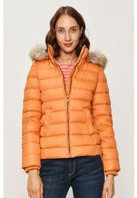 Pomarańczowa kurtka Tommy Jeans z kapturem